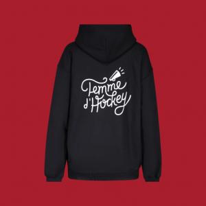 hoodie Femme d'Hockey noir