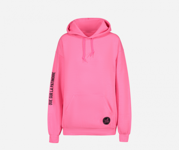 hoodie rose Femme d'Hockey, le hockey ne se joue pas que sur la patinoire